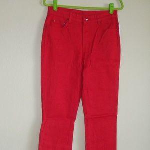 Diane Gilman Boot Cut Runway Red Jeans